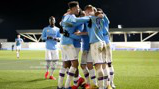 SQUAD GOALS: The City players celebrate after Liam Delap's FA Youth Cup winner against Burnley